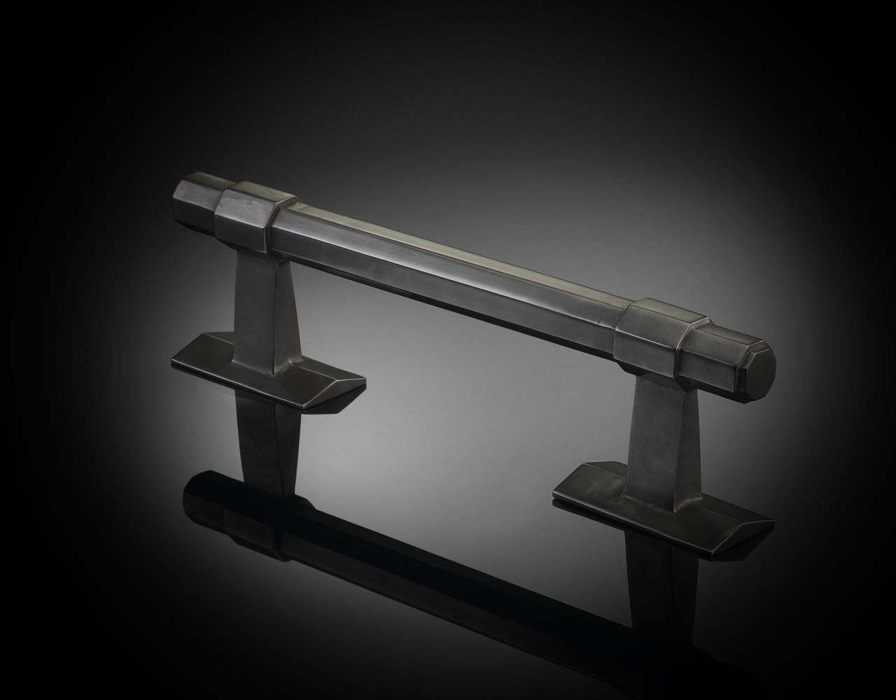 Bespoke pull handle from izé in dark bronze finish ADP02