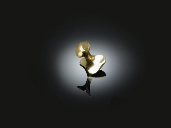 Architect Antoni Gaudí designed bespoke cabinet knob in polished brass finish from izé AGC01