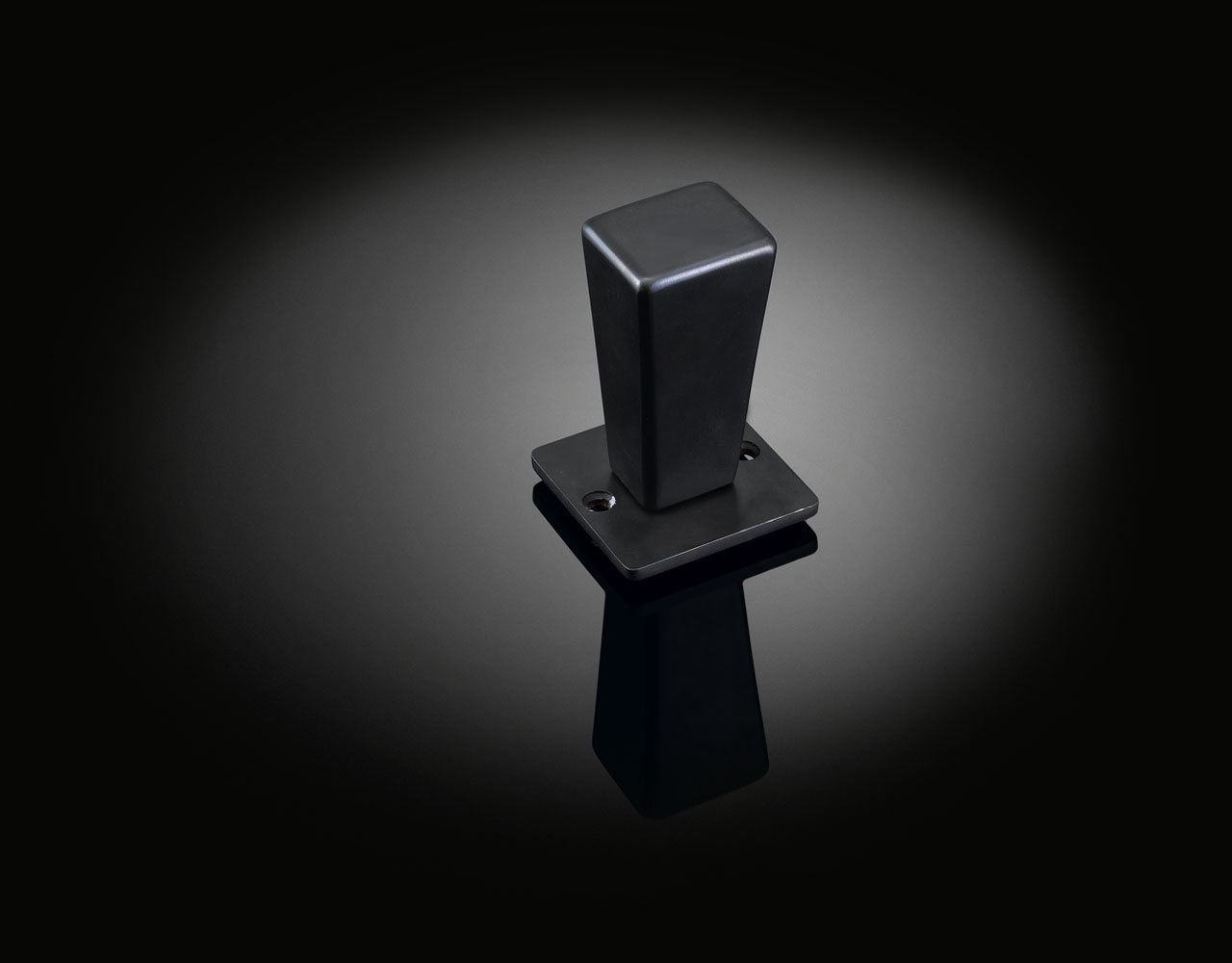 Bespoke door knob by David Adjaye in dark bronze finish from izé DAK03