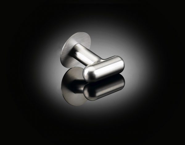 Ana T door knob designed by David Adjaye in satin stainless steel supplied by izé DAK04