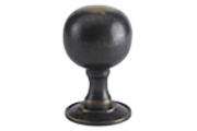 EHK03 luxury brass door knob designed by izé in live finish