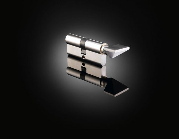 Architect Eric Perry designed luxury cylinder thumb turn in satin stainless steel from izé EPT02