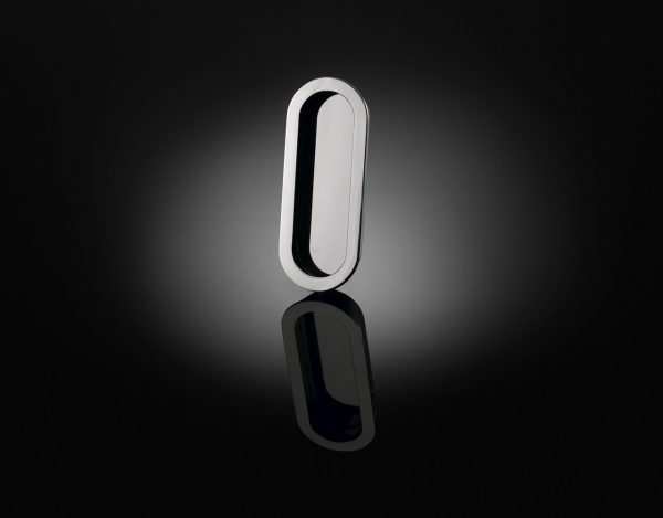 GPFP01 Gió Ponti designed luxury flush pull handle in polished chrome finish by izé