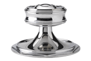 Hamilton Architects Custom large entrance door knob by izé in polished nickel finish HAK01