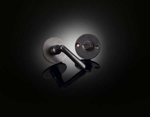 Custom Budapest privacy set designed by Edwin Heathcote in dark bronze finish from iz.é BUDT01