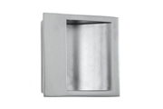 Ian Ritchie deisgned flush pull handle in satin nickel from izé