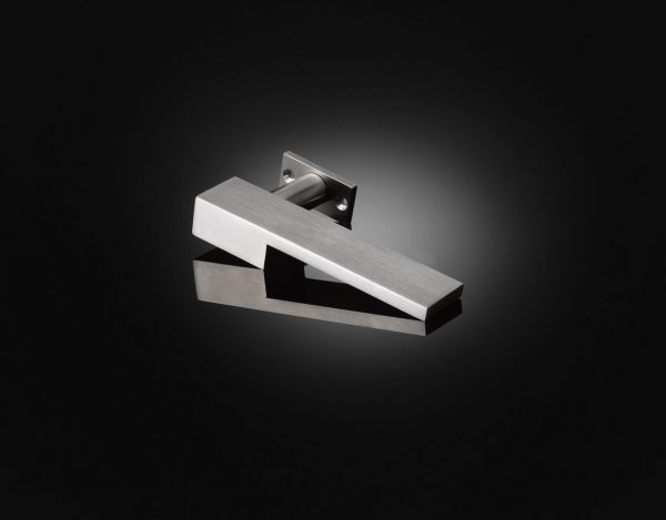 Make Architects designed custom lever handle in Satin Stainless Steel finish by izé MKL02