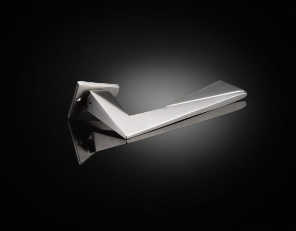 Make Architects designed custom lever handle in Satin Stainless Steel finish by izé MKL03