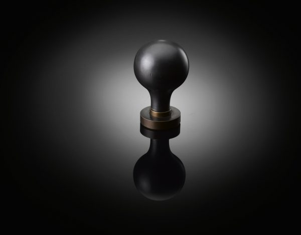MPK01 Custom door knob designed by Mark Pimlott supplied by izé in dark bronze finish