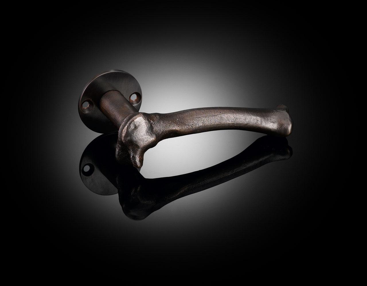 TGL01 exlcusive Faye Toogood bone lever handle in dark bronze finish