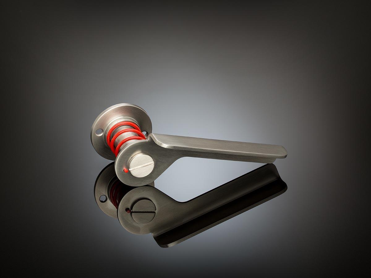 Dirk Ploos Van Amstel Lever Handle DPL01 satin stainless steel gallery image
