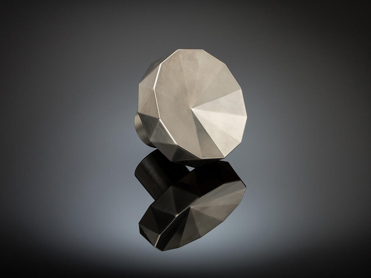 Faceted Door knob designed by Stiff + Trevillion architects, Art deco feel,