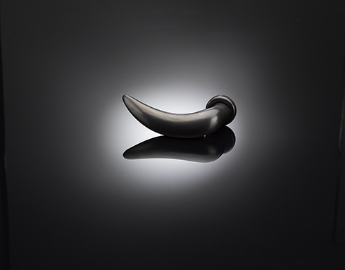 Lina Bo Bardi Lever Handle LBL01 in a dark bronze finish gallery image