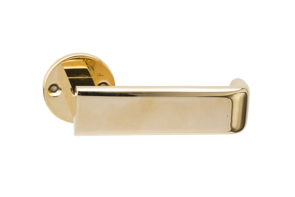 Luxury bronze lever handle designed by Juhani Pallasmaa, Venice Biennale, Finnish architect