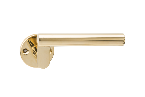Simple bronze lever handle designed by Juhani Pallasmaa, Venice Biennale, Finnish architect