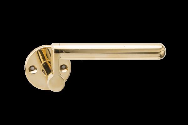 Simple bronze lever handle designed by Juhani Pallasmaa, Venice Biennale, Finnish architect