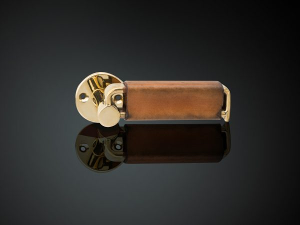 Lever handle with leather cover
