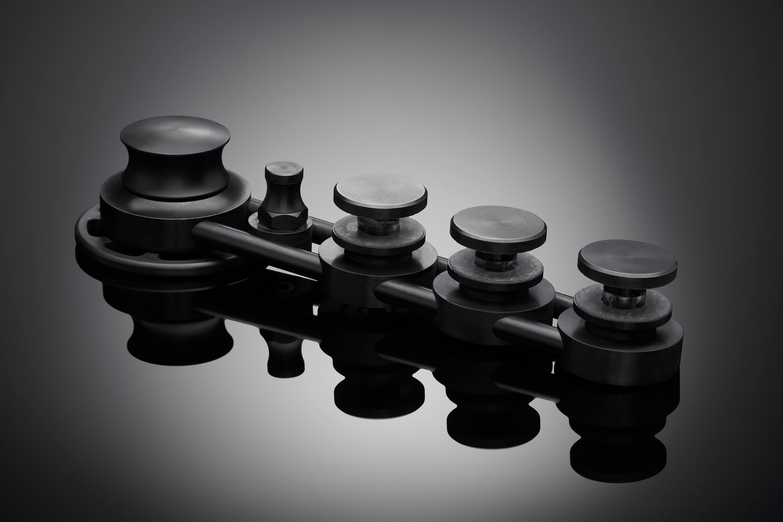 Visible cogs on designer sliding door gear