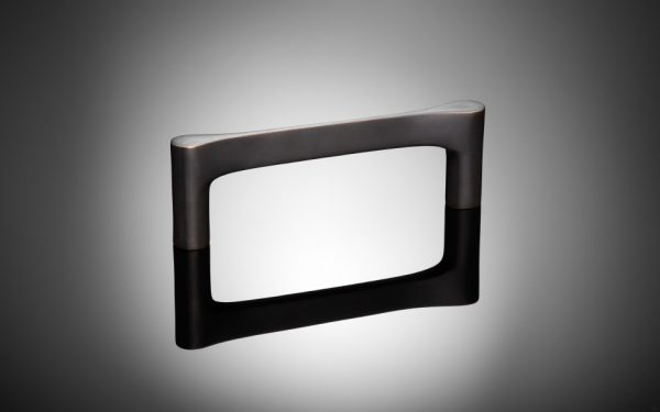 Cabinet handle by Gio Ponti, matt black bronze