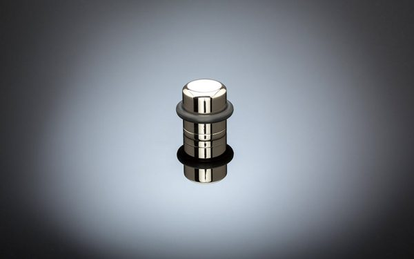 stainless steel engraved pillar floor stop by izé